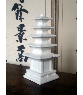 White porcelain pagoda or stupa