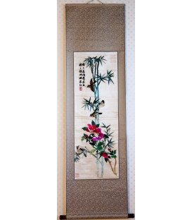 Bamboo & Birds Scroll