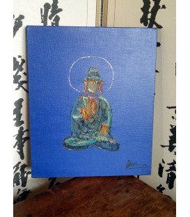 Blu Buddha in oil
